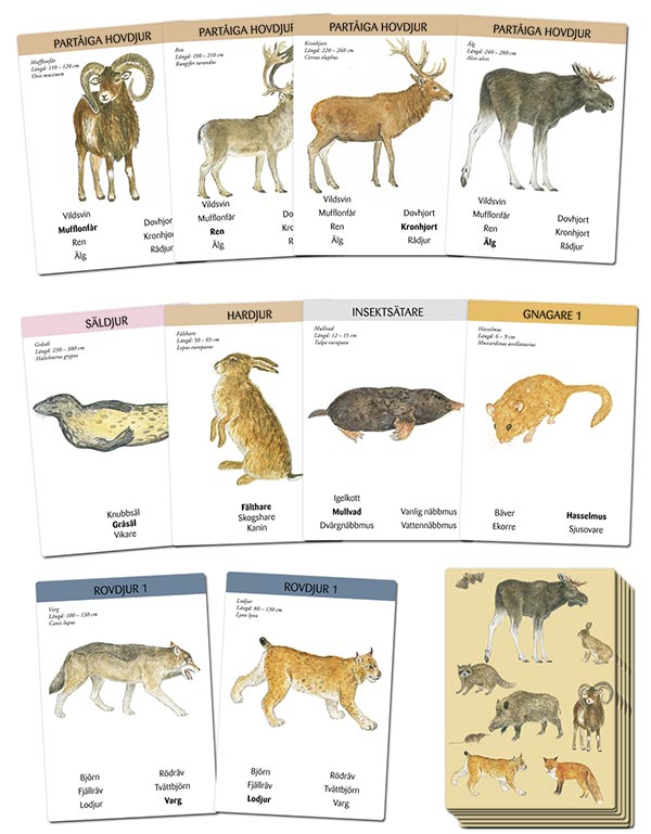 3171 Vilda djur ett kortspel