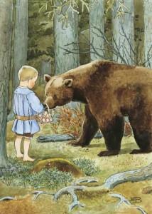 Mors lilla Olle. Affisch av Elsa Beskow
