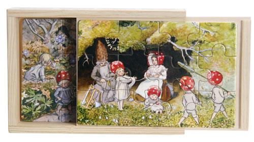 Tomtebobarnen 4 x träpussel